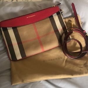 Burberry Peyton House Check & Leather Bag
